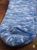 Melange Ankle Length Sock in Blue
