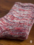 Melange 3/4 Length Sock in Crimson