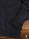 Vented Linen Bomber Jacket in Black
