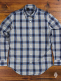 """Tencel Check"" Button Up Shirt in Blue"