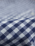 Gingham Linen in Blue