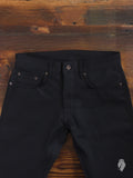 x026 13oz Black Selvedge Denim - Spikes Fit