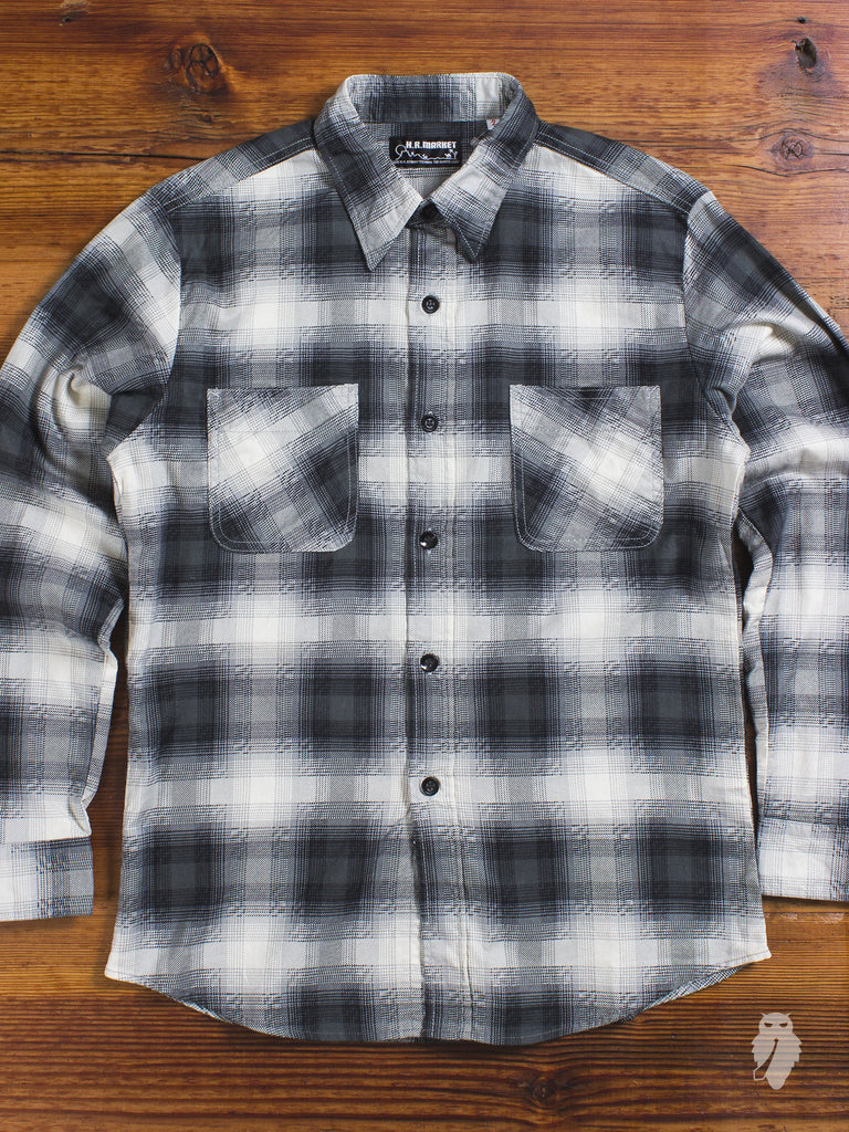 """Hollywood Ranch"" Flannel Shirt in Black"