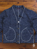 Melange Cardigan Sweater in Indigo