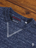 Melange Crewneck Sweater in Indigo