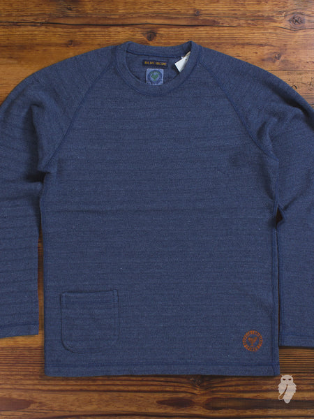 Recycled Knit Crewneck in Navy