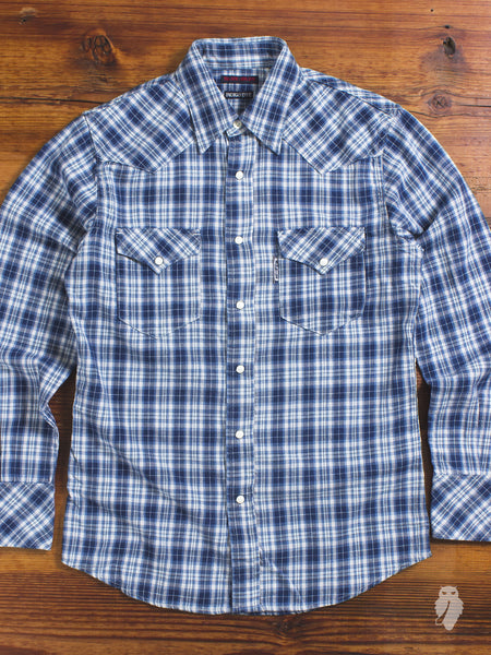 Indigo Western Shirt in Blue