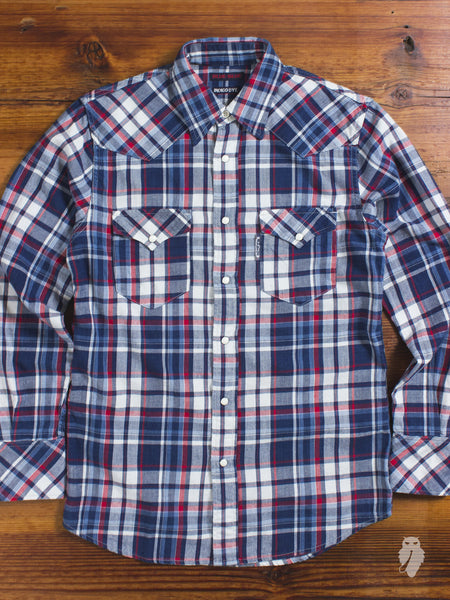 Indigo Western Shirt in Red