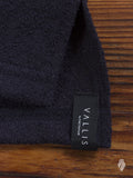 """Vallis"" Coarse Knit T-Shirt in Navy"