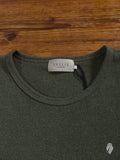 """Vallis"" Coarse Knit T-Shirt in Olive"