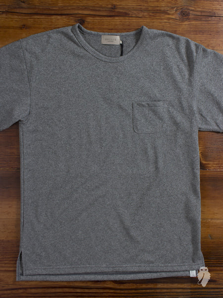 """Vallis"" Coarse Knit T-Shirt in Grey"