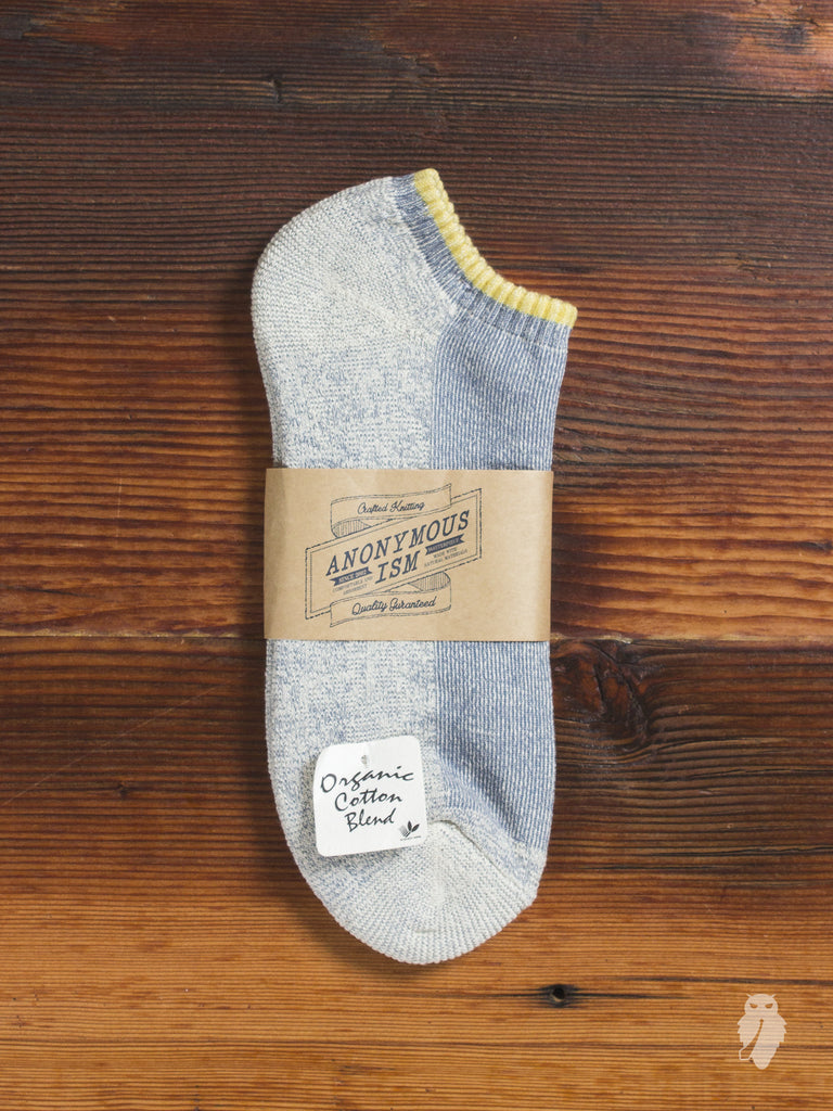 Organic Cotton Ankle Length Sock in Yellow