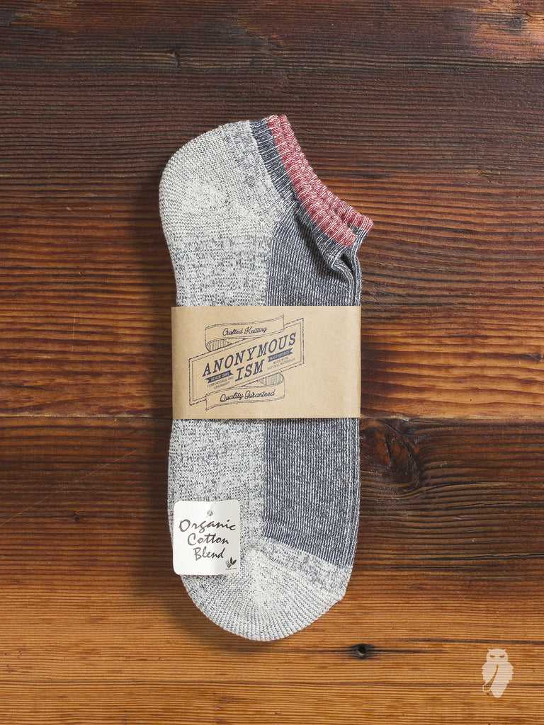 Organic Cotton Ankle Length Sock in Red