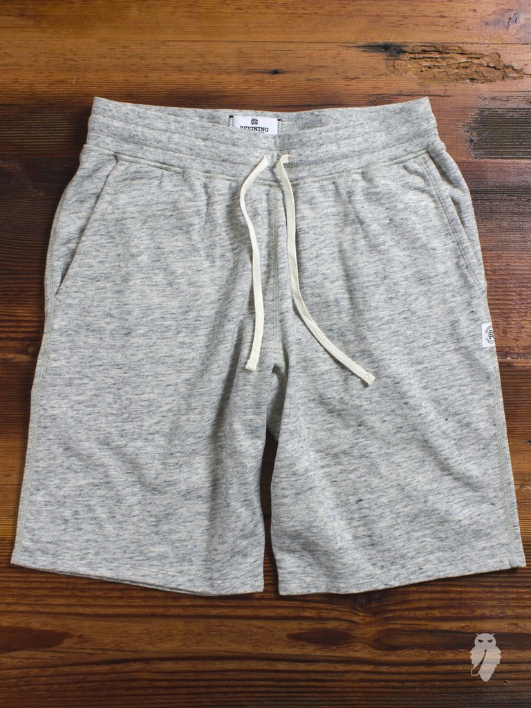 Lightweight Terry Sweatshort in Concrete