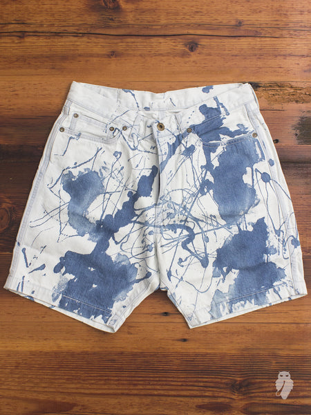 JB5200 12oz Denim Shorts in Bleached Indigo