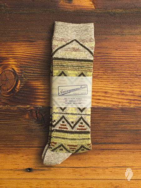 Navajo Crew Sock in Sand