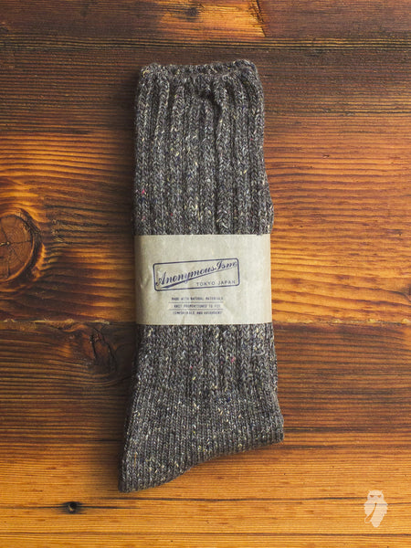 English Tweed Crew Sock in Grey