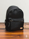 Glossa Leather Backpack in Black