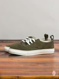 Corgi Low Top Sneaker in Olive Suede