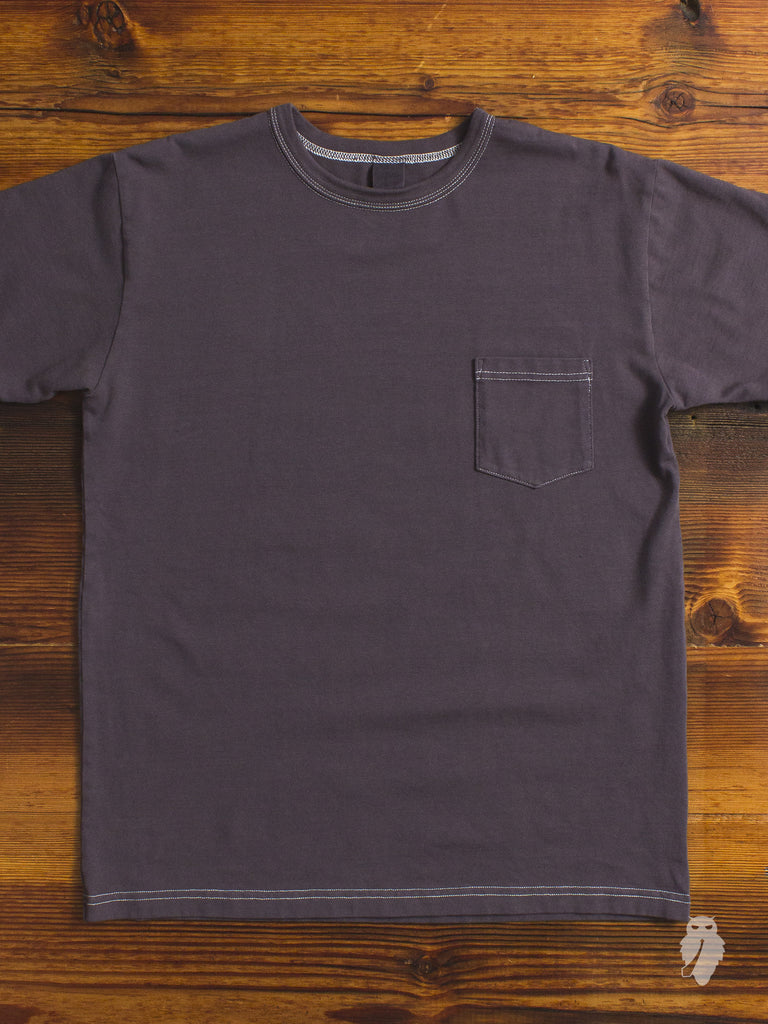 Garment Dyed Pocket T-Shirt in Purple