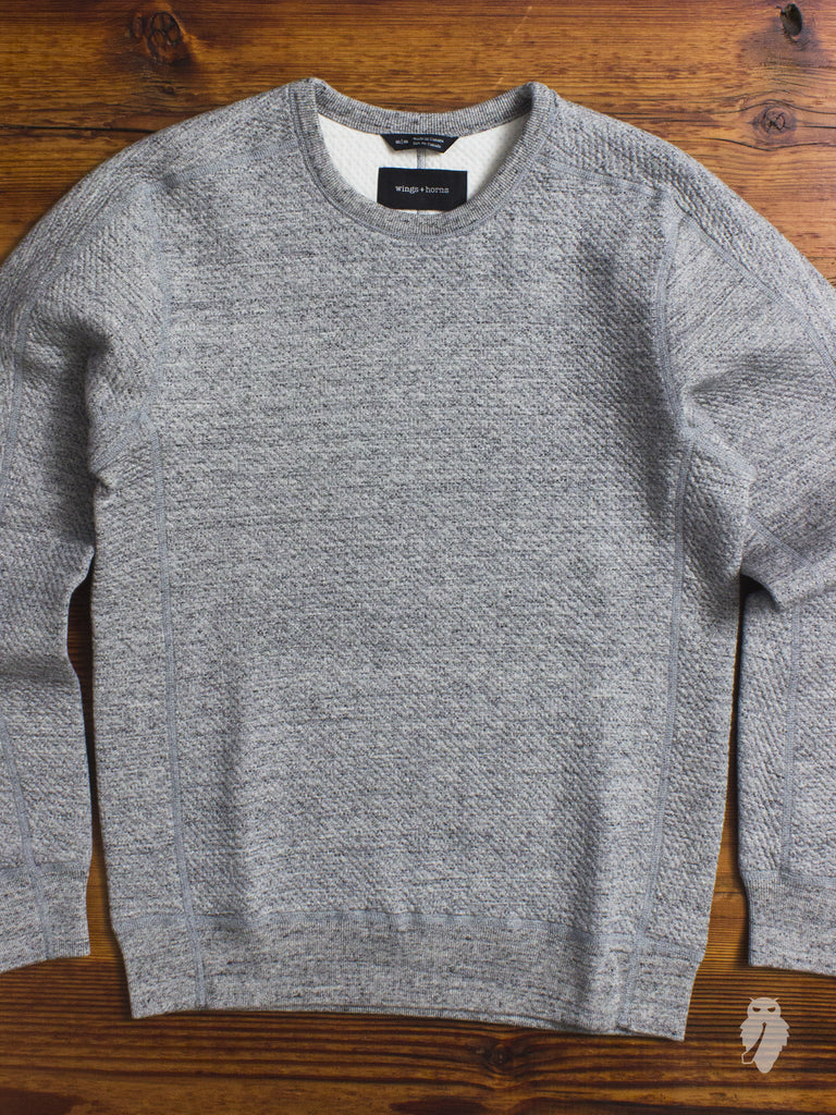 Cabin Fleece Crewneck Sweater in Heather Grey