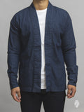Haori Western Denim Shirt in Natural Indigo