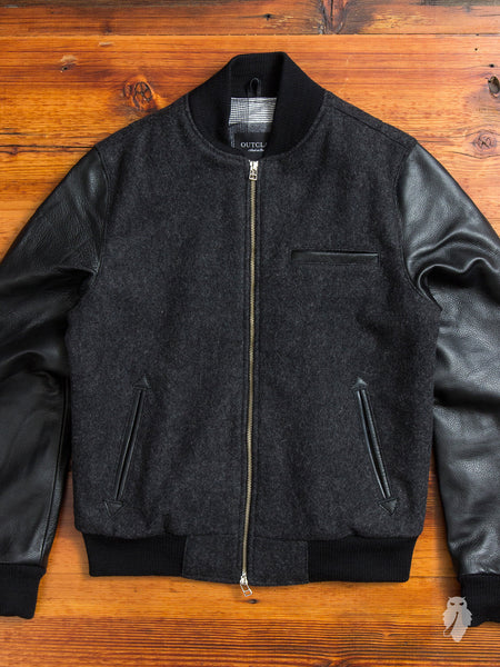 Bomber Jacket in Charcoal