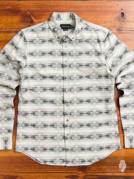 Aztec Brushed Flannel in Grey