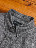 Static Slub Brushed Flannel in Charcoal