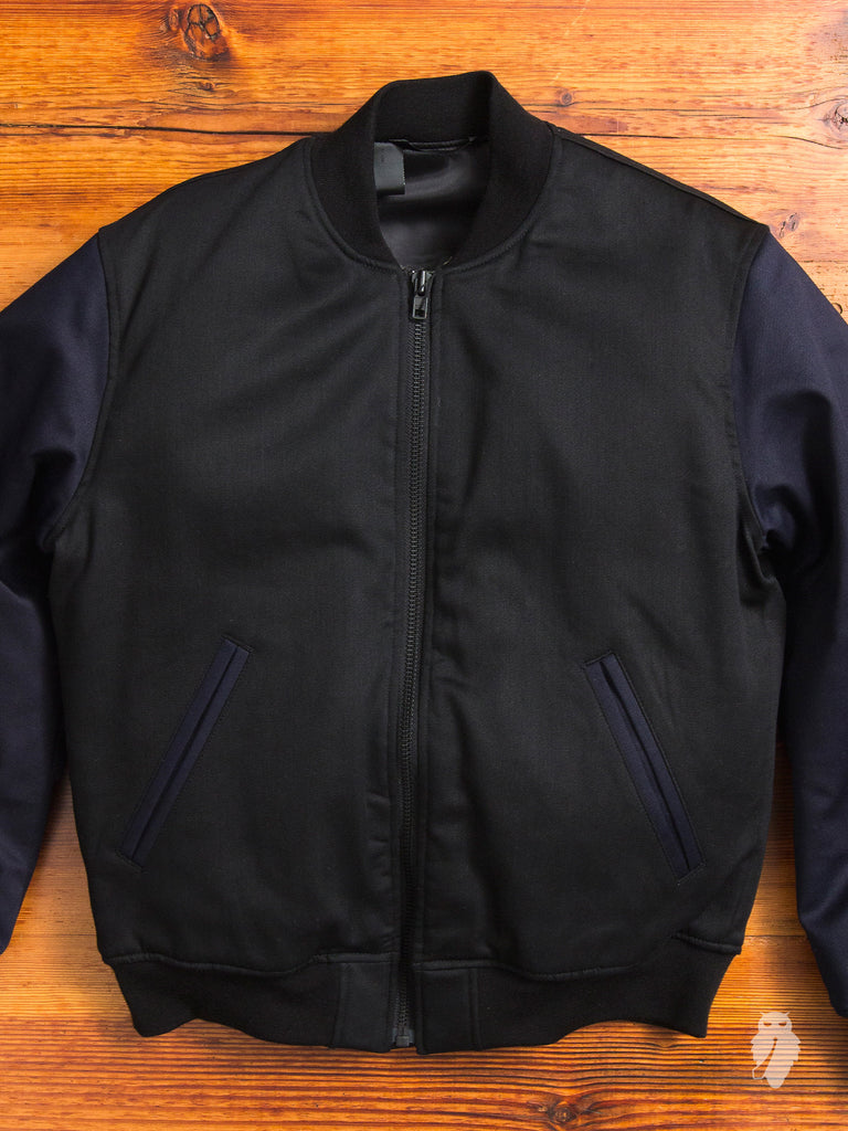 Bomber Jacket in Two-Tone