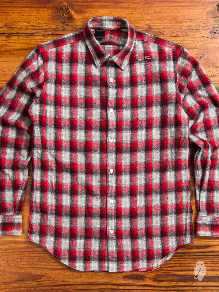 Shadow Brushed Flannel in Red