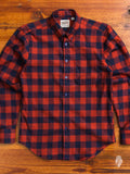 """Buffalo Check"" Button Down Shirt in Red/Indigo"