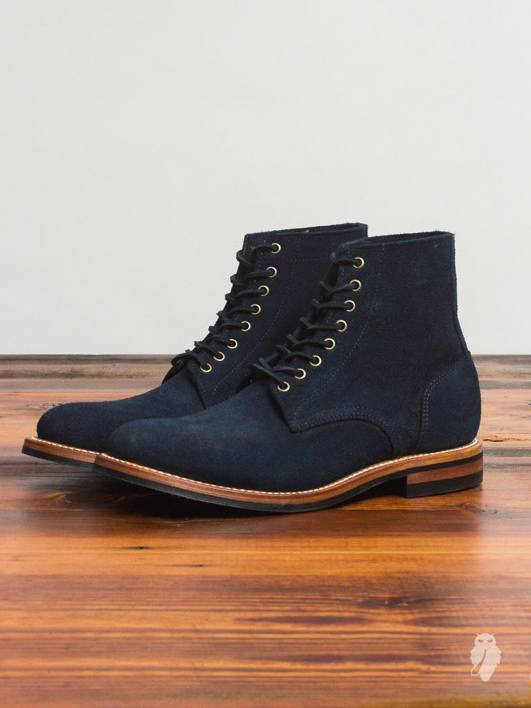 """Dainite Trench Boot"" in Indigo Rough-Out"