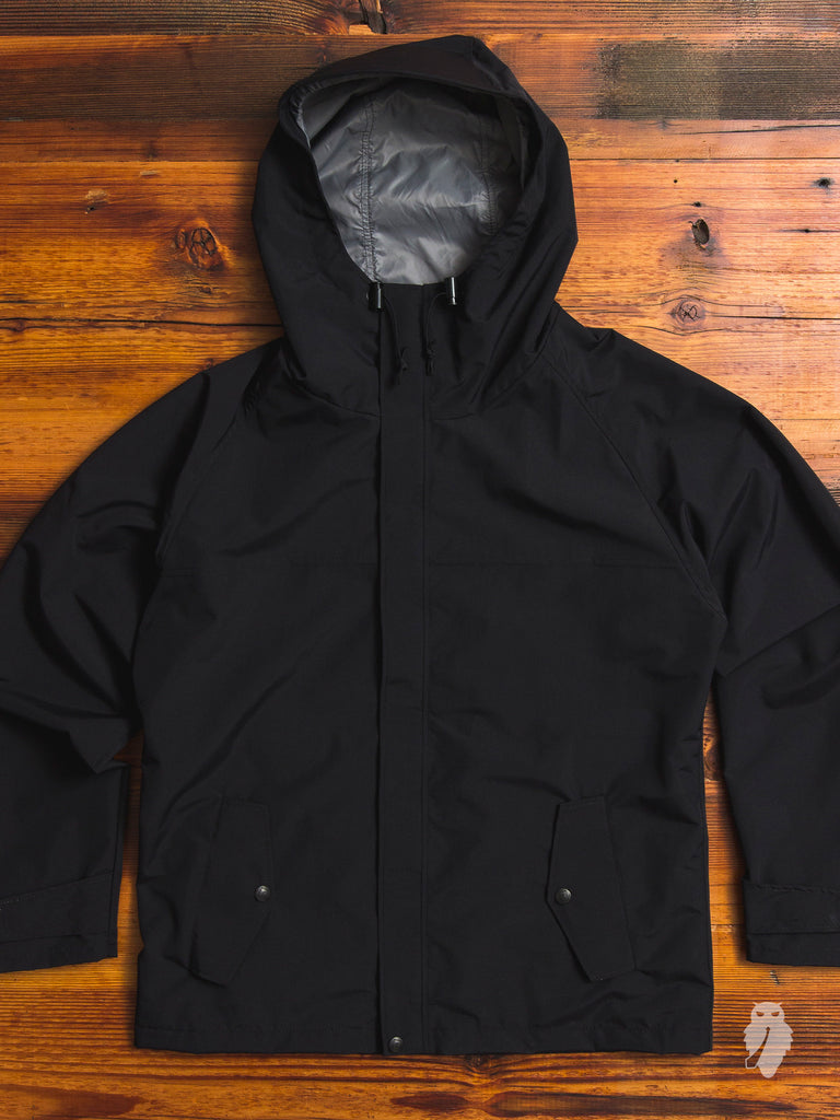 "Freeman x Blue Owl Workshop ""The Freeman"" Rain Jacket in Black"