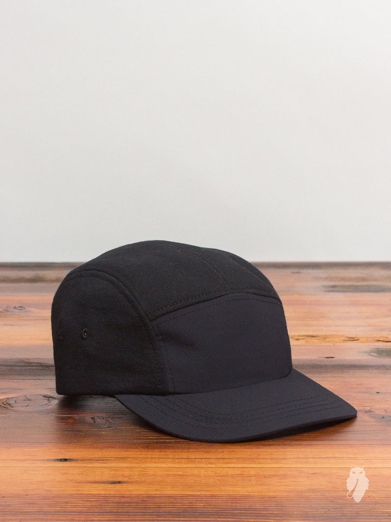 """Sea to Sky"" Hybrid 5-Panel Hat in Black"