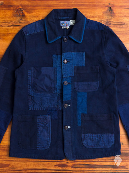 Patchwork Chore Jacket in Indigo