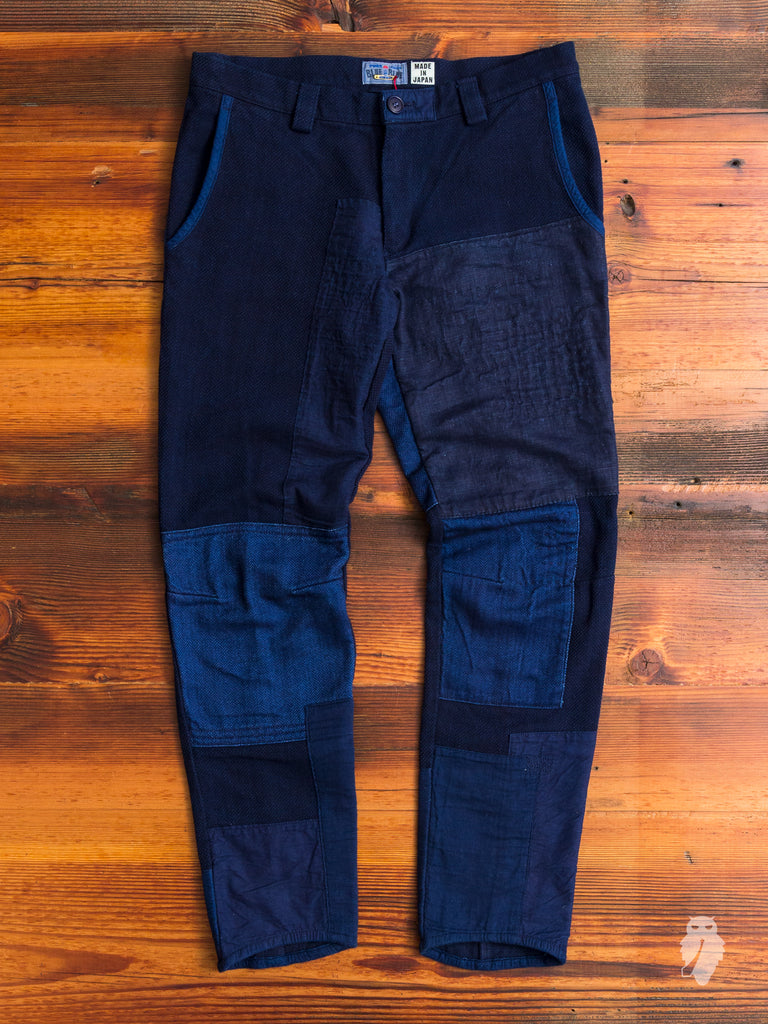 Patchwork Utility Pants in Indigo