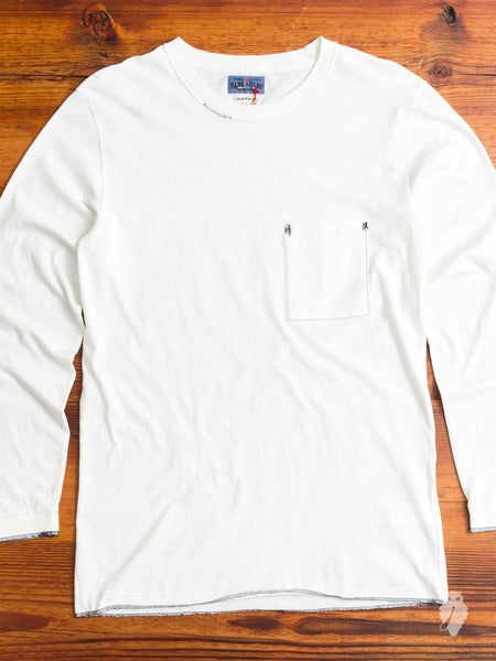 Repair Long Sleeve T-Shirt in White