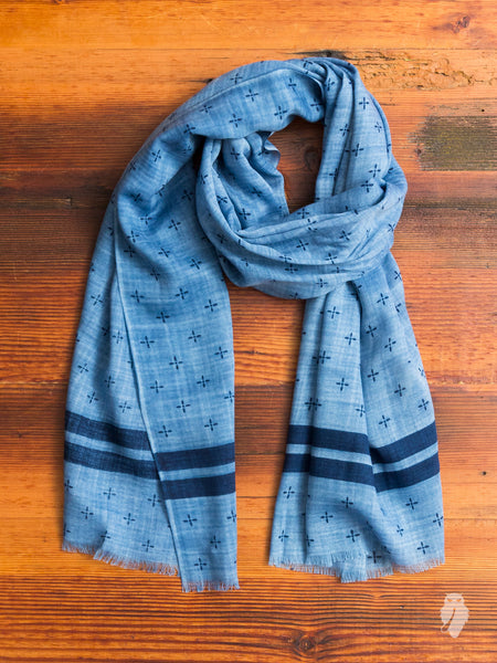 Winter Star Scarf in Washed Indigo