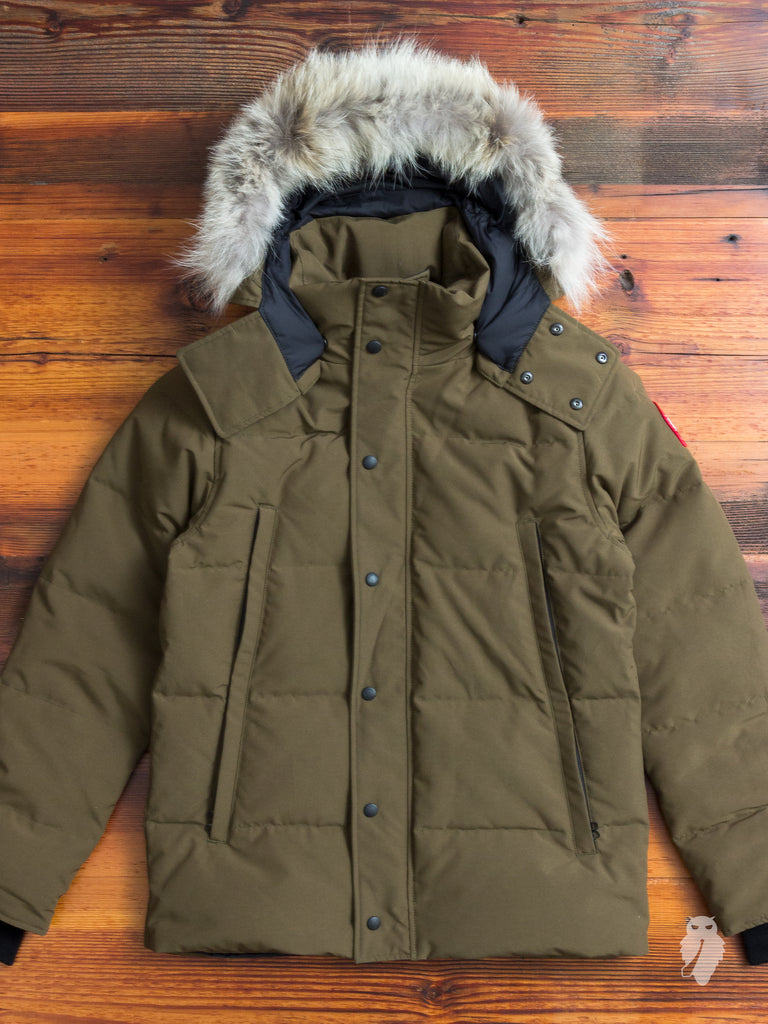 """Wyndham"" Parka in Military Green"