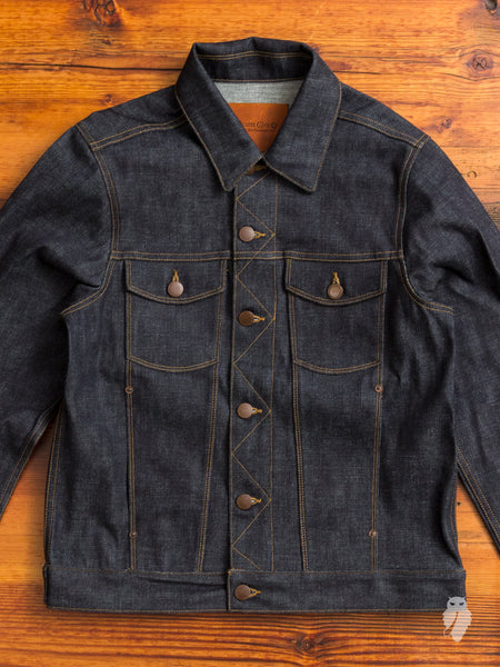 12.75oz Broken Twill Selvedge Denim Jacket in Indigo