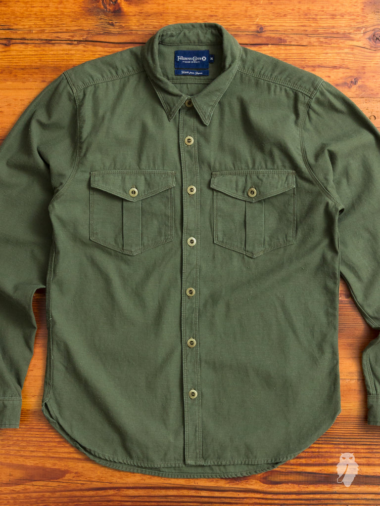Dayton Work Shirt in Military Green