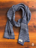 Mixed Wool Scarf in Blue