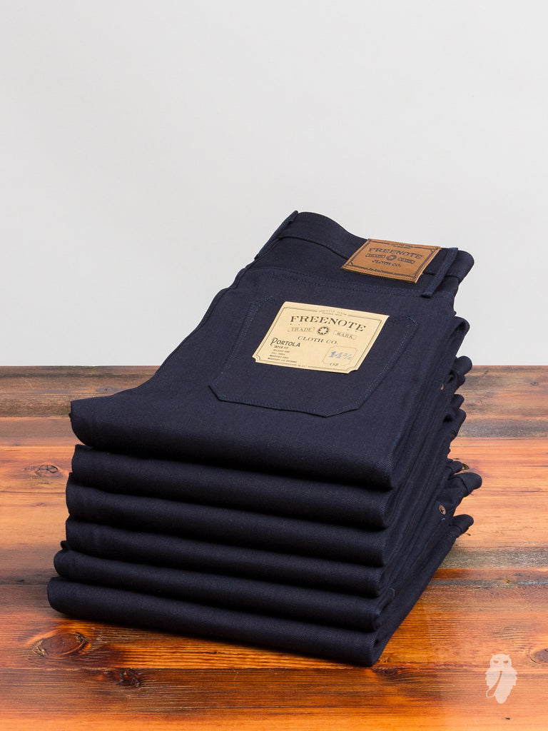 """Portola"" 14.75oz Indigo/Black Selvedge Denim - Tapered Fit"