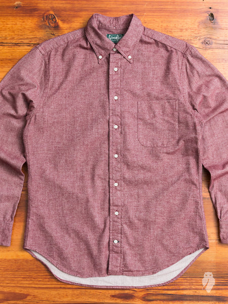 Flannel Chambray in Burgundy