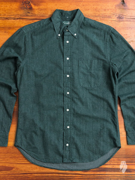 Flannel Chambray in Green