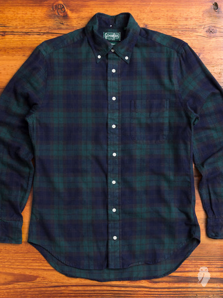 Scottish Check Flannel in Blackwatch