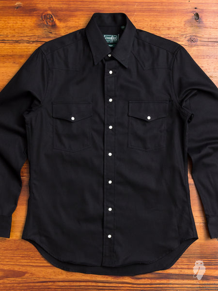Selvedge Western Shirt in Black