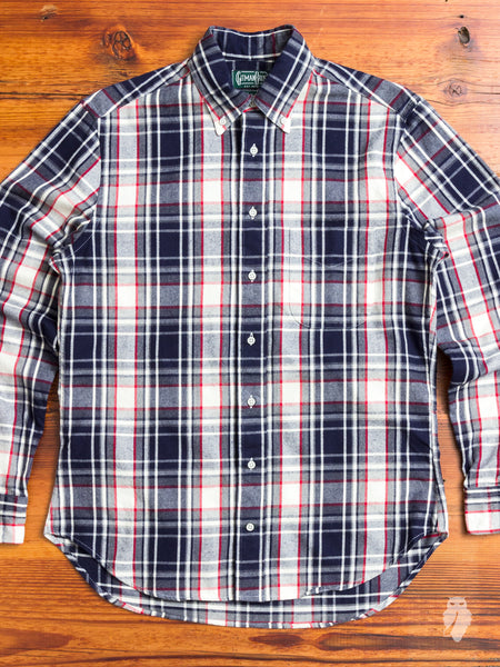 Shaggy Check Flannel in White