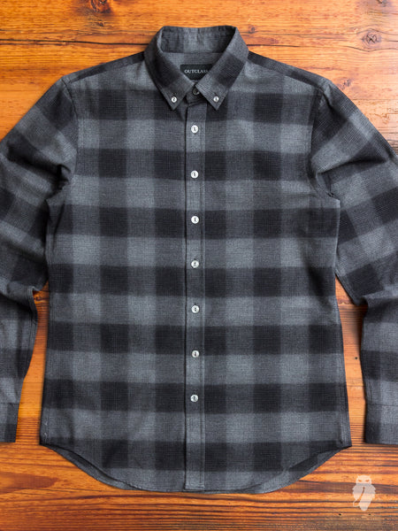 Buffalo Brushed Flannel in Charcoal